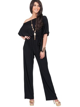 Off-Shoulder Strap Jumpsuit