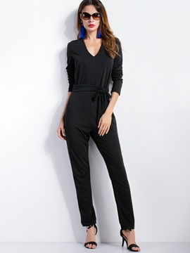 Black Strap Casual Jumpsuit