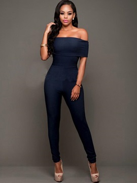 Off Shoulder Slim Women's Jumpsuit