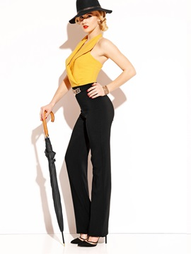 Backless High-Waist Wide Leg Women's Jumpsuit
