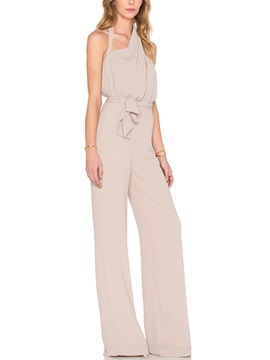Backless Lace-Up Women's Jumpsuit