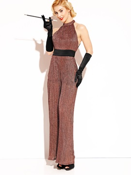 Backless Wide Leg Women's Jumpsuit