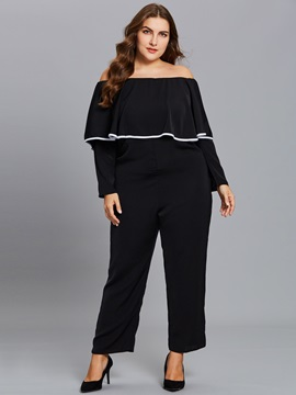 Off Shoulder Wide Leg Women's Jumpsuit
