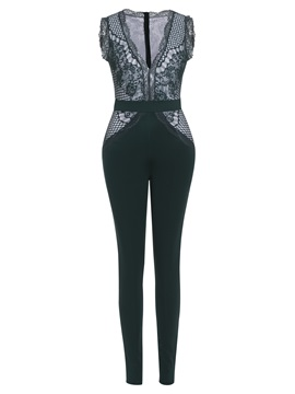 Lace Skinny Full Length Women's Jumpsuit