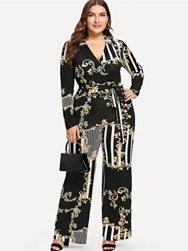 Full Length Print High Waist Slim Women