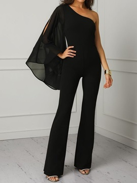 Full Length Mesh Slim Women's Jumpsuit