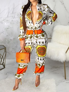 Print Color Block Fashion Loose Women