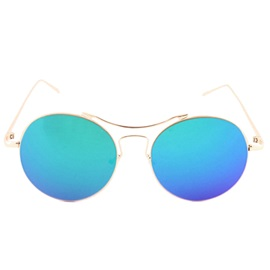 Graceful Metal Frame Material Sunglasses