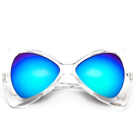Ac Lens Material Triangle Sunglasses