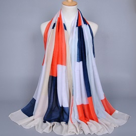 Vogue Color Block Women's Scarf