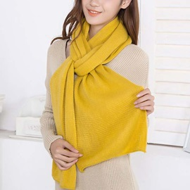 Simple Pure Color Knitted Scarf