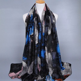 Graffiti Printed Voile Women's Scarf