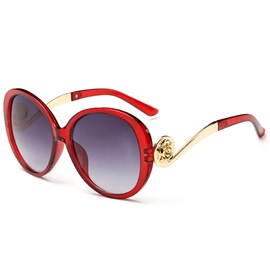 Golden Frame Anti-UV Sunglasses for Women
