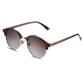 Half Frame HD Brown Lenses Women's Sunglasses