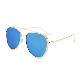 Colored Film Design Alloy Frame Anti-UV Sunglasses