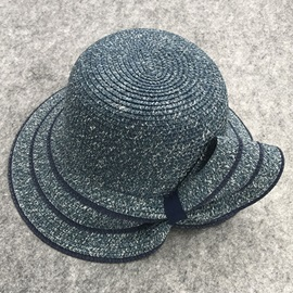 Twisted Bowknot Large Brim Design Foldable Straw Hat