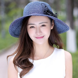 Sunscreen Solid Color All-Matched Bowknot Straw Hat