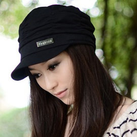 Fall Winter Cotton Pleated Soft Casual Korean Cap Hats
