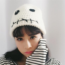Lovely Grimace Pattern Dome Fall Winter Knitted Hat