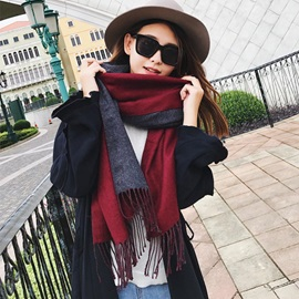 Double Side Thick Cashmere Winter Scarfs