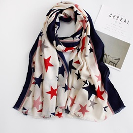 Trendy Star Printed Women's Scarf