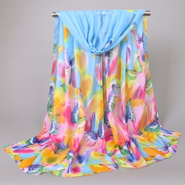 New Style Chiffon Floral Printed Women's Scarf