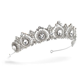 Silver-Zone Hollow Sun Flower Shape Rhinestone Wedding Tiara