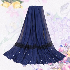 Lace Decorated Cotton Ethnic Scarfs for Women