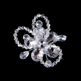 Bowknot Shape Transparent Zircon Decorated Wedding Hairpin