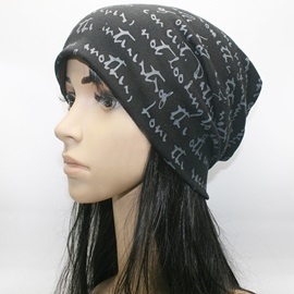 Letters Printed Cotton Hat
