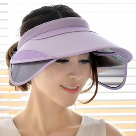 Foldable Visor Crown UV Protected Sun Hat