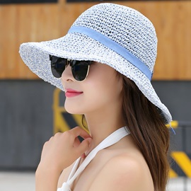 Large Brim Foldable Breathable Beach Straw Hat
