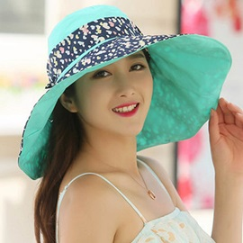 Foldable UV Protection Colorful Printed Cotton Sun Hat