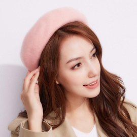 Women's Ladylike Wool Pure Color Beret