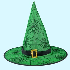 Spider Web Pattern Halloween Party Magic Hat