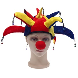 Colored Clown Shape Cosplay Halloween Party Hat