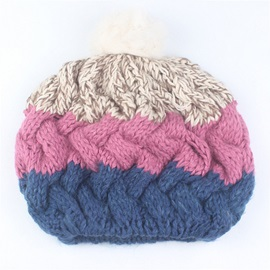 Color Block Beret Wool Christmas Series Hats
