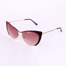 Handsome Cat Eye Design Alloy Sunglasses