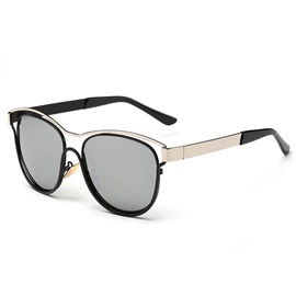 Vintage Style Hollow Frame Oval Sunglasses