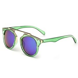 Fashion Round Ac Lens Material Sunglasses