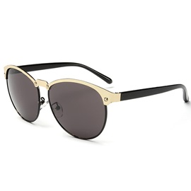 Vintage Metal Frame Polarized Aviator Sunglasses