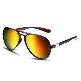 Color Film Polarized Frog Mirrors Women's Sunglasses