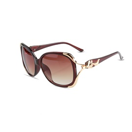 Metal Large Frame Resin Anti-UV Sunglasses For Women