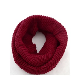 Fashion Pure Color Knit Korean Style Woolen Yarn Women's Scarf