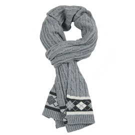 Trendy Wool with Woolen Yarn Women's Long Winter Scarf
