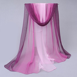 Gradient Color Chiffon Summer Shawl/Scarf