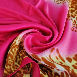 Vintage Pattern Printed Silk-like Scarf
