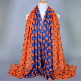 Patchwork Polka Dot Voile Scarf