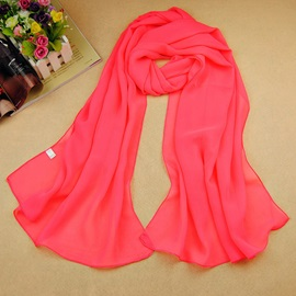 Solid Color Sun-proof Chiffon Scarf