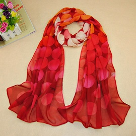 Fresh Circular Ring Printed Scarf
